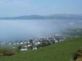 Borth engulfed by sea mist