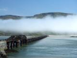 Railway viaduct and sea mist