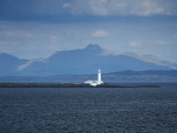 Lismore lighthouse with Ben Cruachan beyond