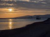 Evening sea activity