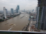 View from my balcony on the 32th floor. Hotel Chatrium