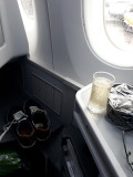 Champagne. 10 hours of flying ahead