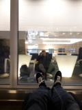 Relaxing in the Finnair Lounge Helsinki Vantaa