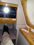 Streching my legs in the A380. A380 Bangkok-Dubai