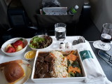 Meal on the flight from Bangkok to Colombo.