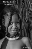 Himba Girl, Serra Cafema B&W  11a