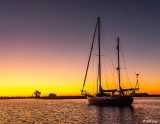 Sunset Sailboat  4  --  2019 Town of Discovery Bay Calendar Winner