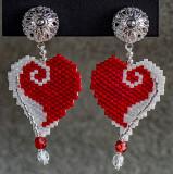 Wrap Up My Heart Earrings - clip on (sold)