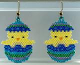 Easter Chick pierced Earrings