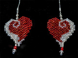 Wrap Up My Heart Earrings - Hex beads - sold