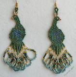 Peacock Earrings - sold