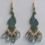 Peacock Earrings (#2) Sold