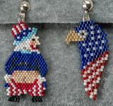 Patriotic Set - Mooning Sam & Eagle (sold)