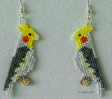 Bird: Cockatiel grey Earrings