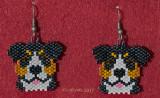 Swiss Mountain Dog Earrings - Sold
