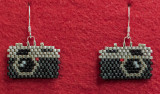 Camera Earrings #2 (sold)