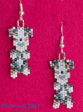 Dog - Blue Merle Aussie Wiggle Earrings (sold)