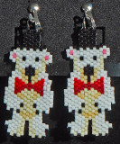 Polar Bear with Top Hat - clip-on Sold