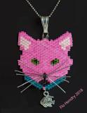 Cat Pendant Pink - Sold