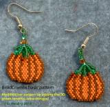 Pumpkin Earrings (#3) sold