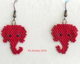 Republican Elephant Earrings #3