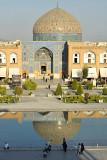 Esfahan, Nasqh-e-Jahan Square, Masjed-e Sheik Lotfollah from Ali Qapu Palace
