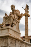 Statues of Plato & Athena