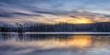 Sunset colors, panorama