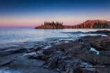 Sunrise colors, Lake Superior