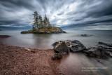 Island along the Lake Superior hiking trail
