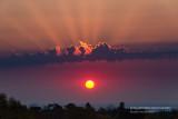 Red orange sunrise