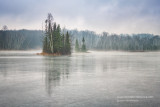 Winter scene at Audie Lake