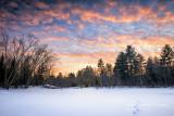 Sunset colors at Flambeau river