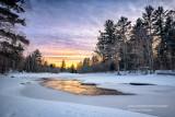 Last light at Flambeau River