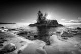 Tombolo in black & white