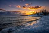 Sunset at Hollow Rock resort