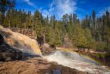 Gooseberry Falls with rainbow