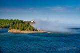 Split Rock lighthouse, embraced by fog