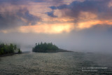 Morning fog, Ellingsen Island