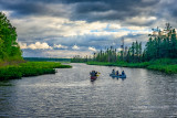 Leaving for an evening canoe paddle