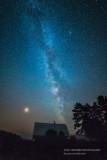 Milky Way, Mars and barn