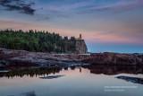 Split Rock lighthouse, reflection