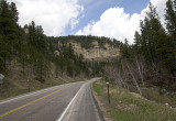 Road up Spearfish Canyon