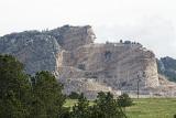 Crazy Horse Memorial Progress from Hwy 385