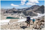 Days 6 and 7: Forester Pass Basin to Kearsarge Lakes (plus rest day)
