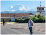 View of Huascaran at the airport