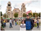 Steve and Norah at Plaza de Armas