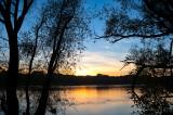 Sunset On Wisla River
