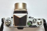 length = 47mm, weight = 190g (as an F-mount lens)