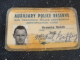 SFPD Auxiliary Police Reserve ID card
